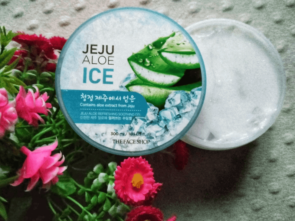 Face Shop's Jeju Aloe Ice Refreshing Soothing Gel with no lid