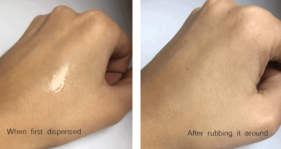 Facetheory Cera-C Pore Reducing Toner before and after