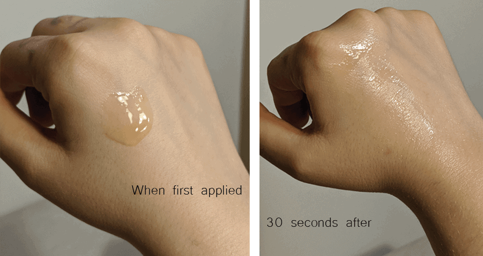 Scinic Honey AIO hand test before after