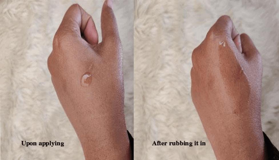Kiehl's Nightly Refining Micro-Peel Concentrate handtest