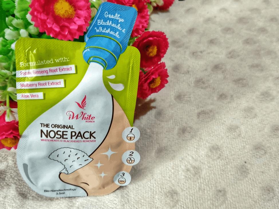 iwhite korea original nose pack